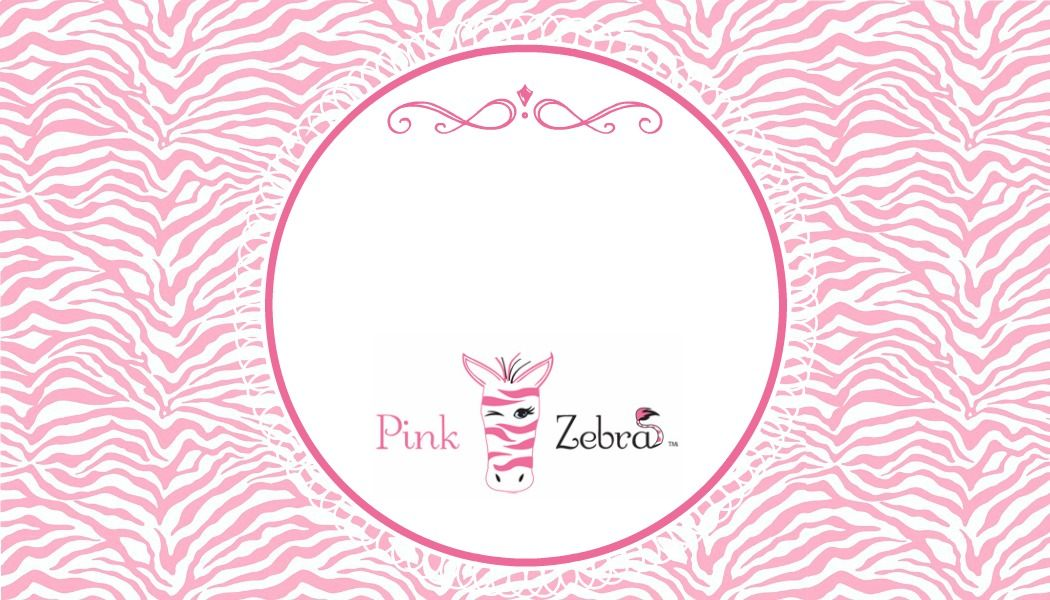 Free Pink Zebra Business Card Templates by Slap Dash Mom PZbyme - fresh zebra invitation template free