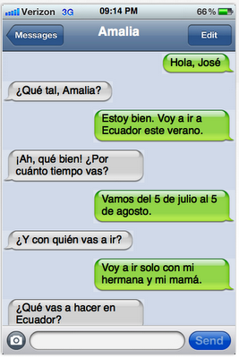 Sexting examples in spanish