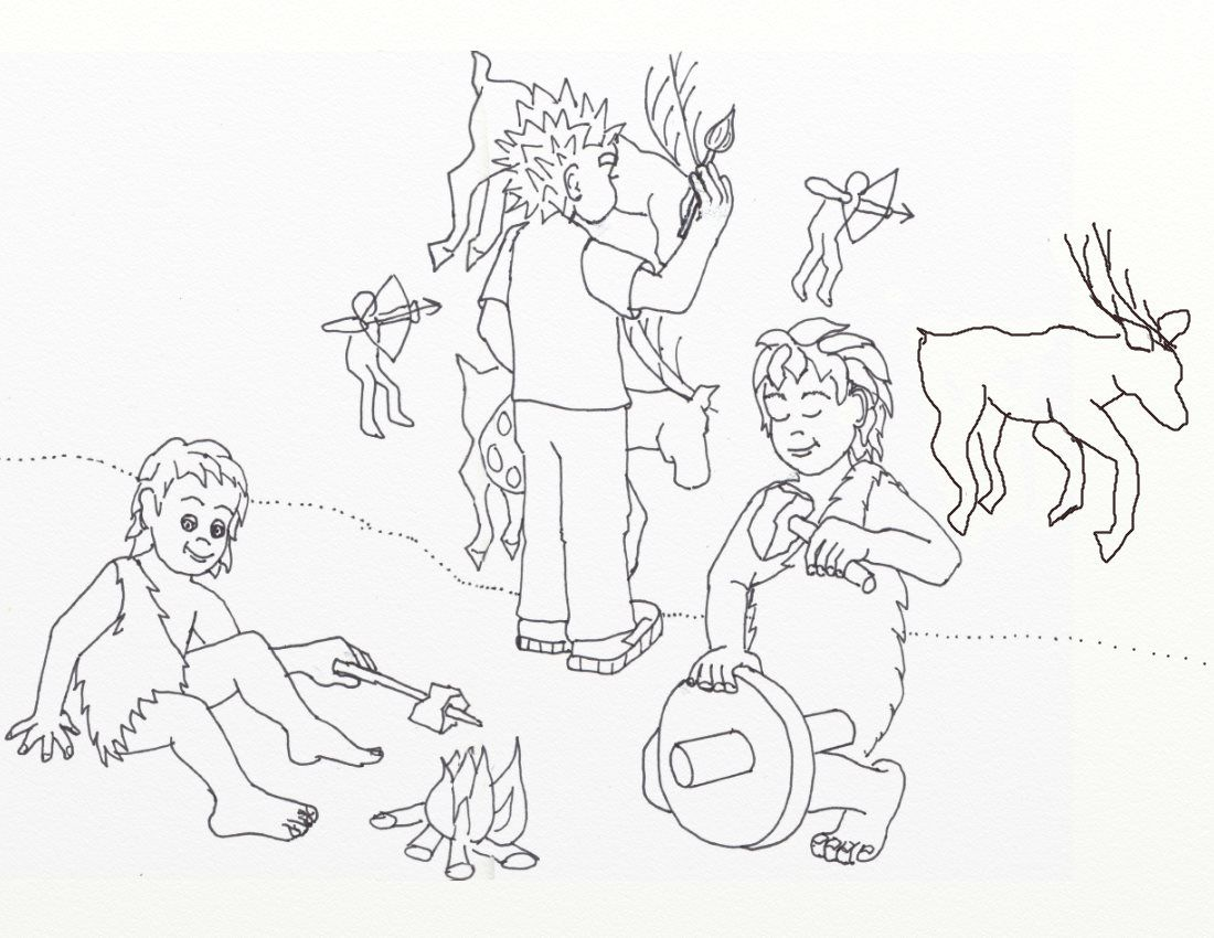 Pre Historic Cave Wall Painting Is The Subject Of My Free Coloring Page For This Week See I Childrens Illustrations Whimsical Illustration Free Coloring Pages