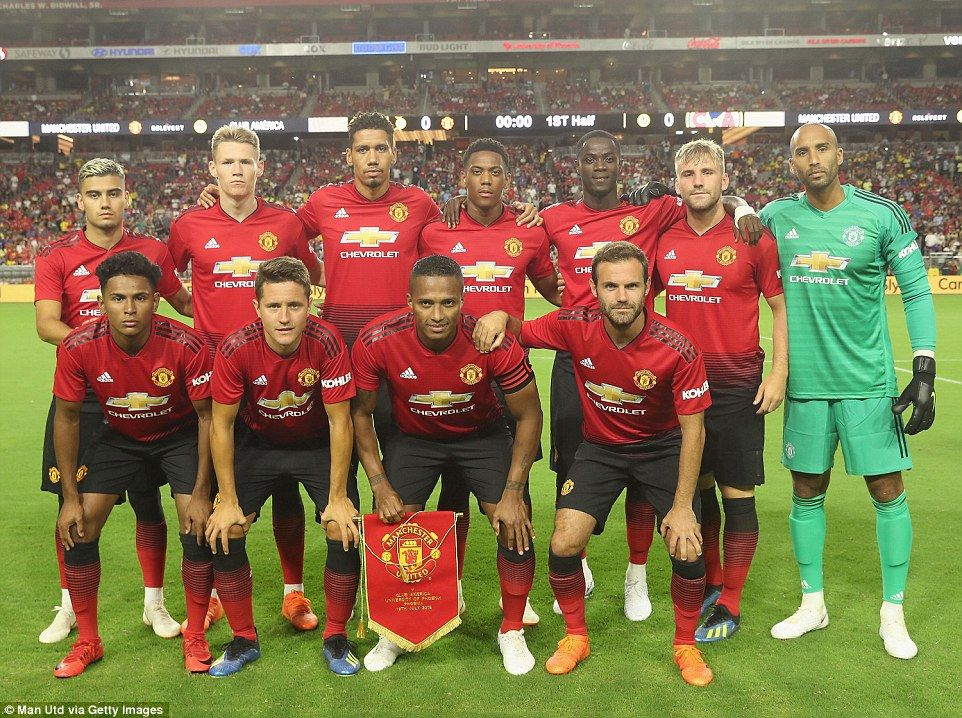 (Back Row L-R: Andreas Pereira, Scott McTominay, Chris