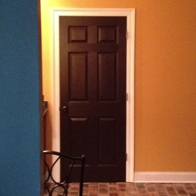 Painted Interior Doors In Espresso Bean And Spray Painted Hardware In Oil Rubbed Bronze My