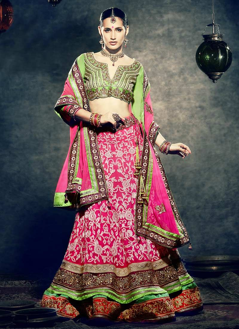 Glowing #Magenta A Line #Lehenga #Choli | Indian | Pinterest
