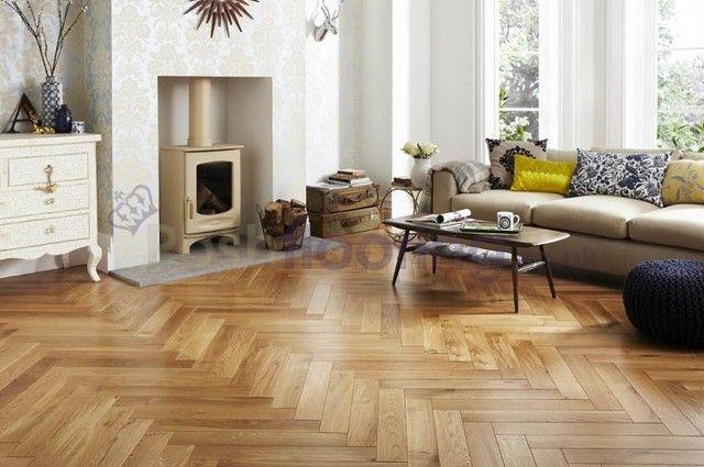 Richmond engineered click system herringbone parquet oak for Hardwood floors richmond va