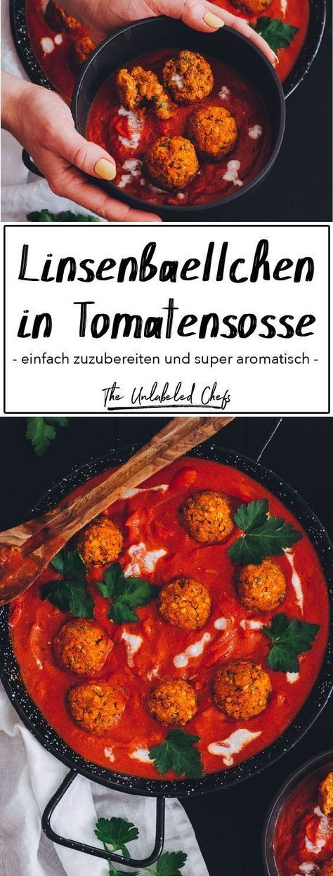 Photo of Lentil balls in tomato sauce – The Unlabeled Chefs