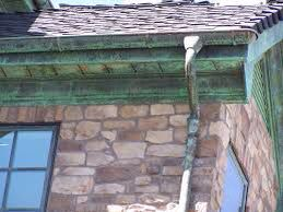 Copper Gutter Aged Copper Gutters Stone House Stone Houses