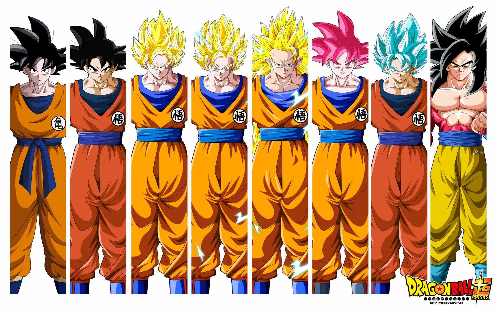 Goku All Form Wallpaper - Best Wallpaper HD | Dragon Ball ...