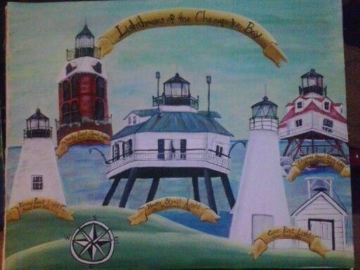Chesapeake Lights  original artwork by Natasha Nash & Chesapeake Lights