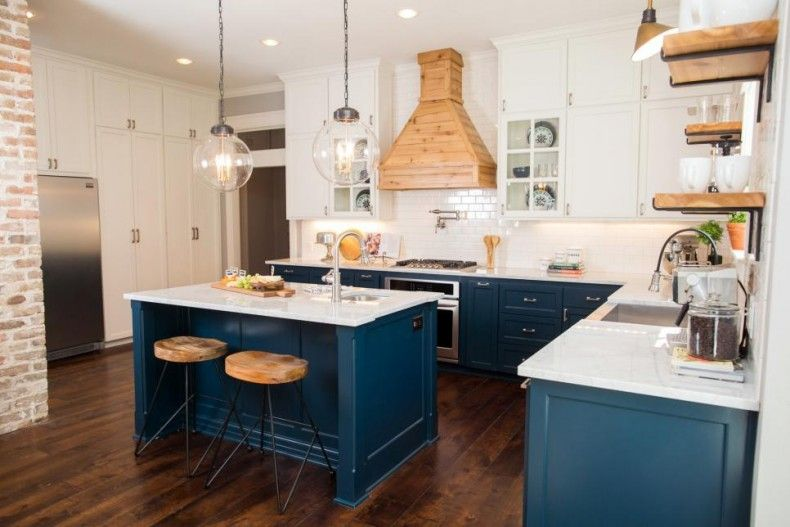 23 Gorgeous Blue Kitchen Cabinet Ideas Fixer Upper Kitchen