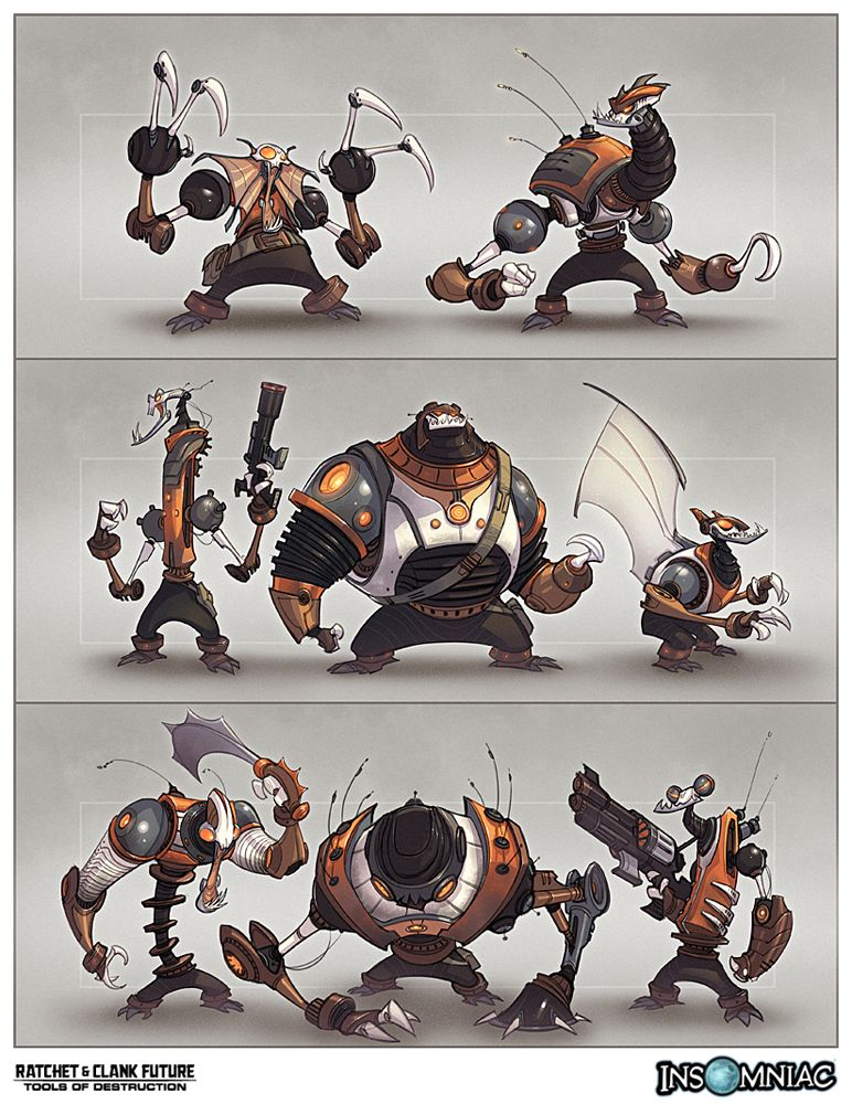 Character Design Tools : Artwork from ratchet clank future tools of destruction