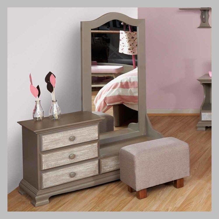 Tocador Clásico con mesa CHJ-08.jpg | muenles de madera | Pinterest ...