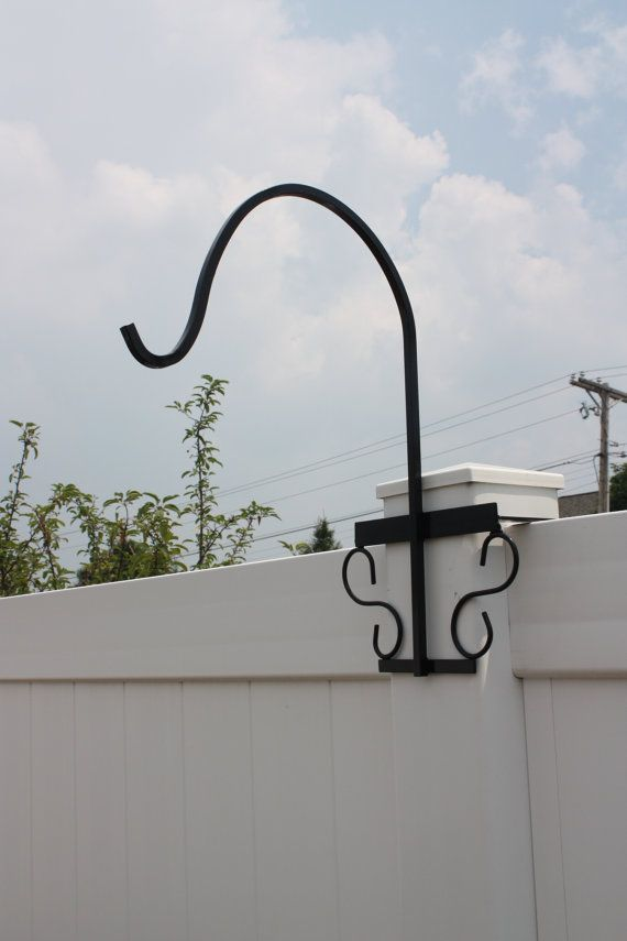 Shepherd S Hook For Vinyl Fence 5 X 5 Post By Homeandyardtreasures
