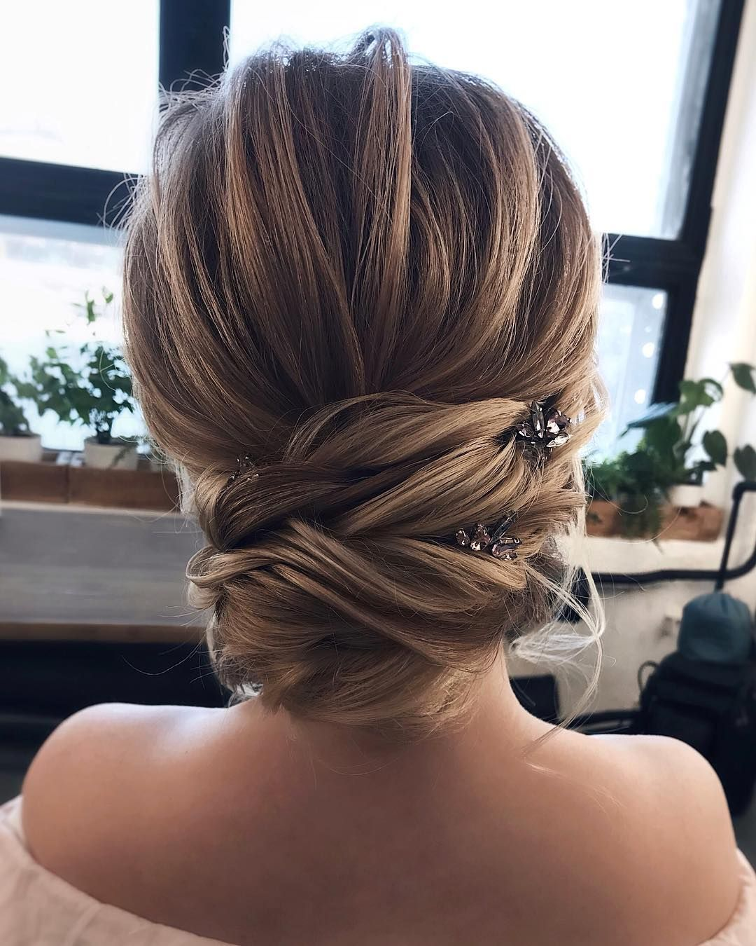 Fabulous Hairstyles For Every Wedding Dress Neckline Whether You Re A Summer Win Strapless Dress Hairstyles Simple Prom Hair Wedding Hairstyles For Long Hair