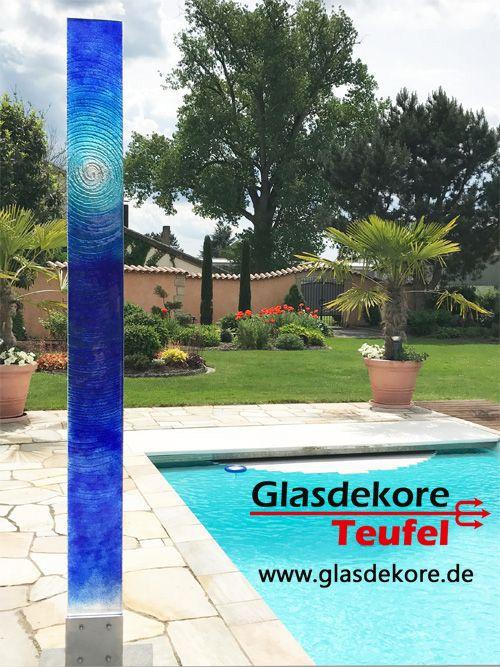 Glasobjekte Fur Den Garten Glas Im Garten Pinterest Glas Und