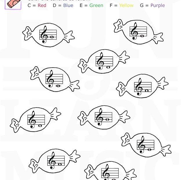Music-Worksheets-Notes-TrebleClef-CDEFG-002 | Houslový klíč - noty ...