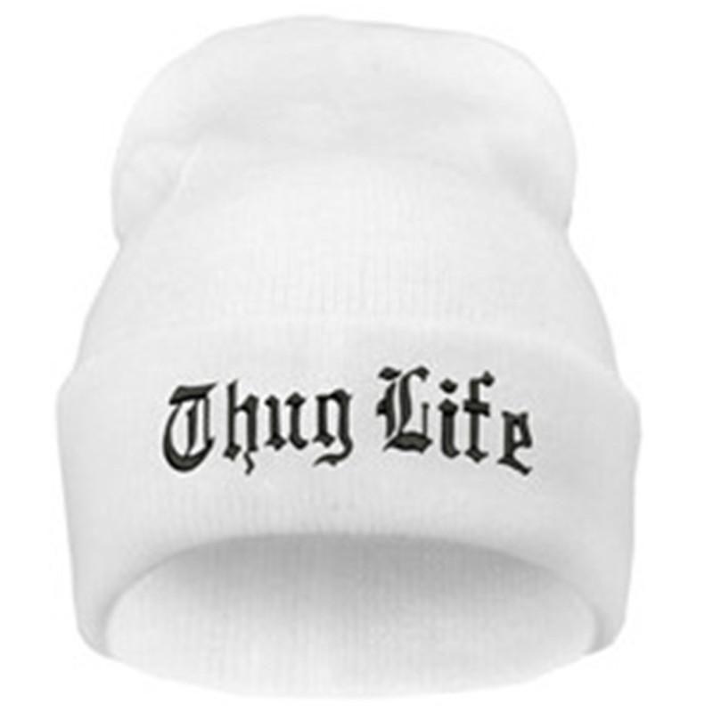 8c55a4ad7a4 THUG LIFE Letter Embroidered Unisex Beanie Fashion 2pac Hip Hop Mens   –  JAKKOU††HEBXX