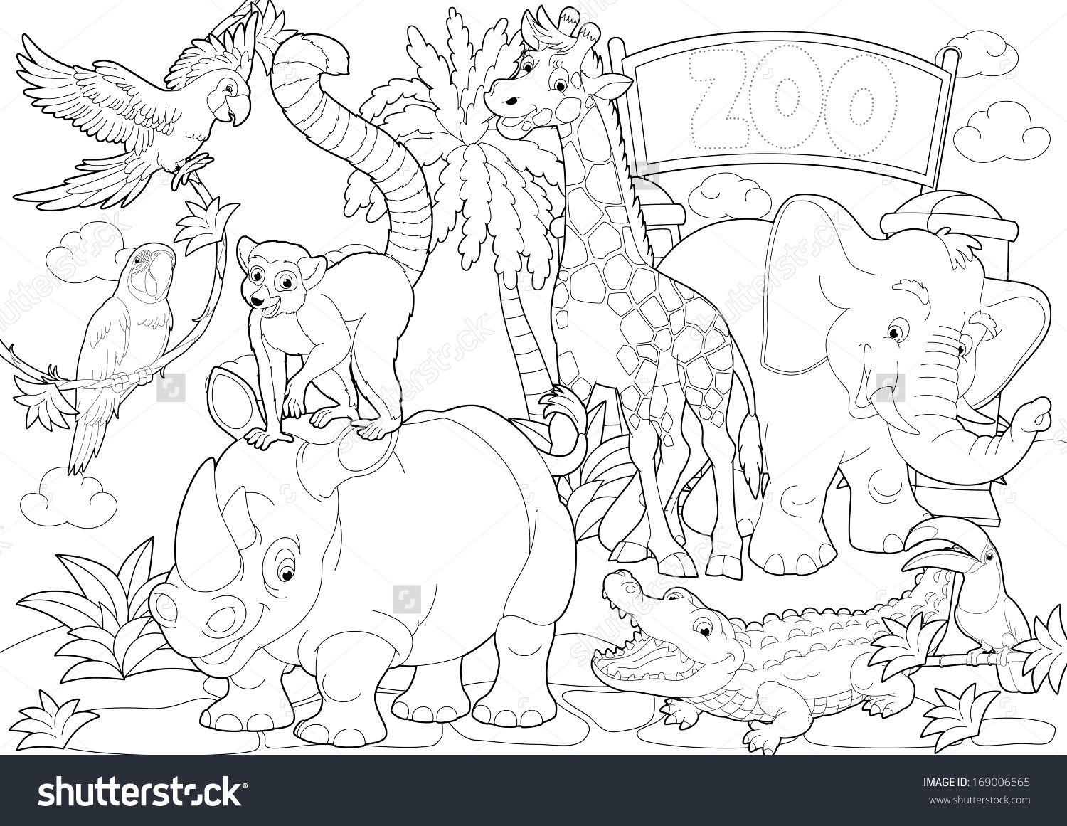 Ausmalbilder Playmobil Zoo : Zoos Coloring Pages Worksheet Coloring Pages