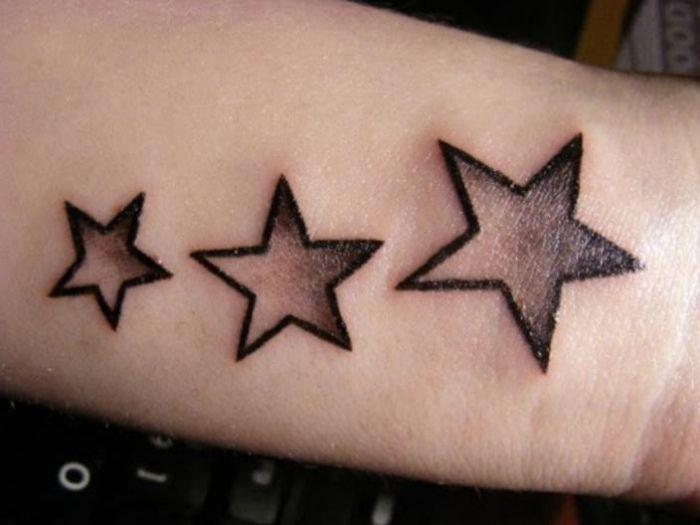 Das Stern Tattoo - ein zeitloser Klassiker und Allrounder