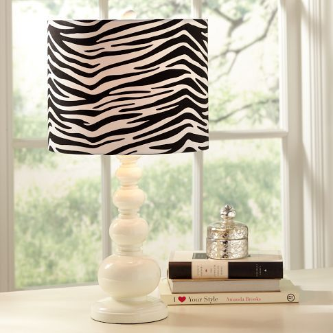 Zebra Shade At Pottery Barn Teen Lamp Base Sold