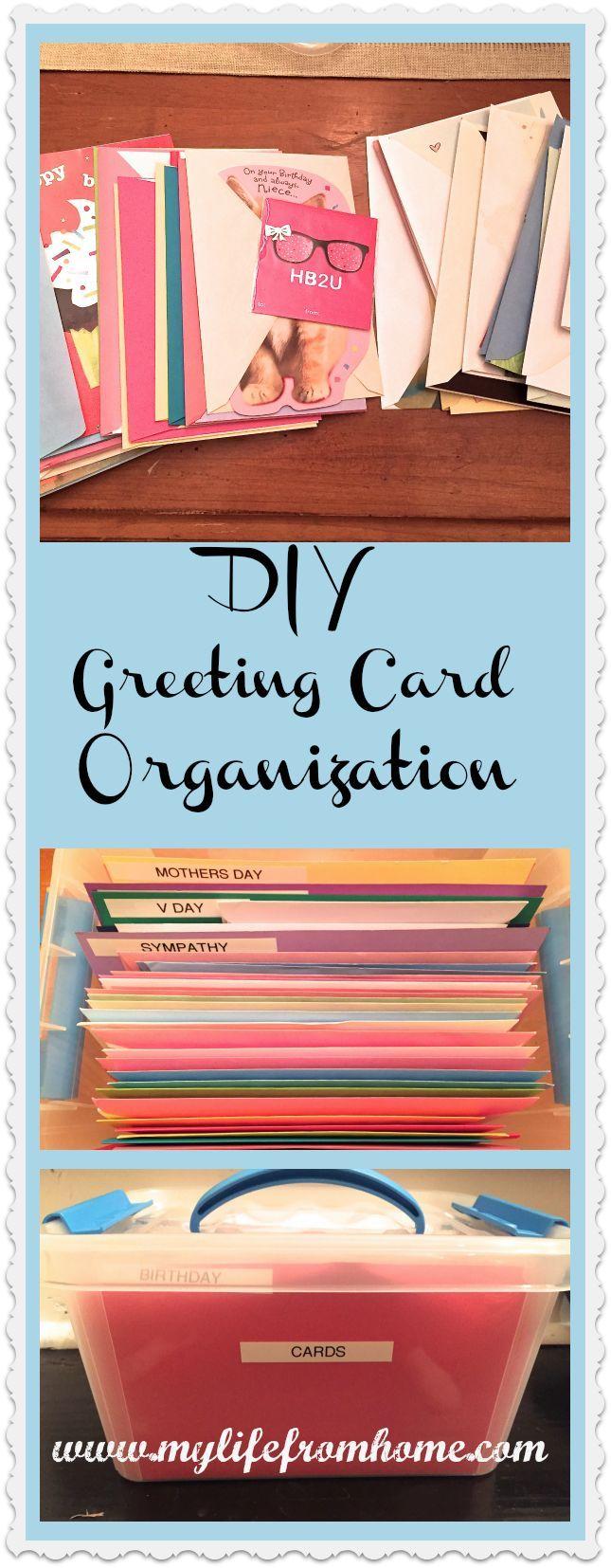 Greeting Card Organization White Cottage Home Living Greeting Card Organizer Greeting Card Storage Card Organizer