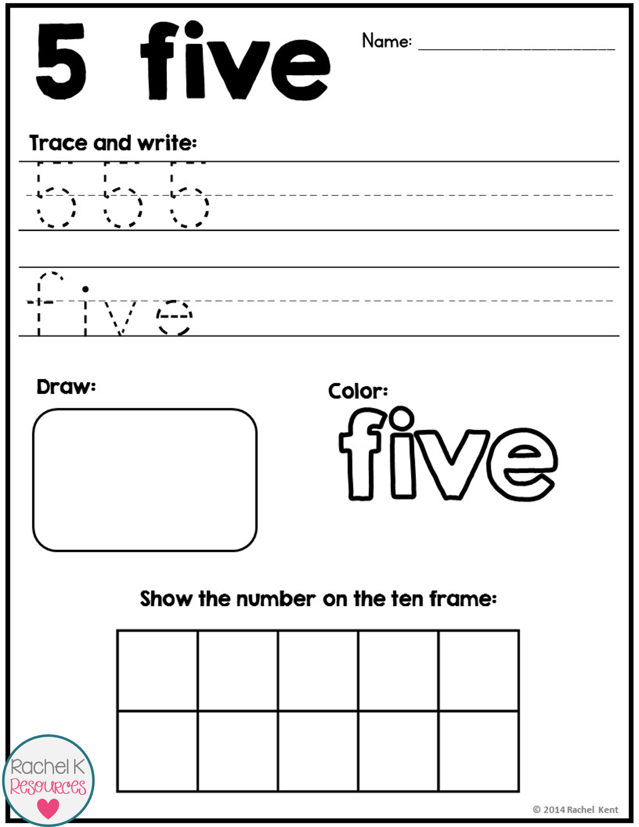 number practice 1 20 number sense homework and math