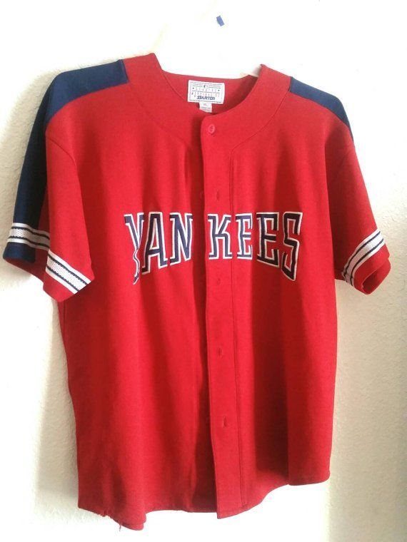 the best attitude ac873 e282c Vintage New York Yankees Jersey Baseball Shirt Sports ...