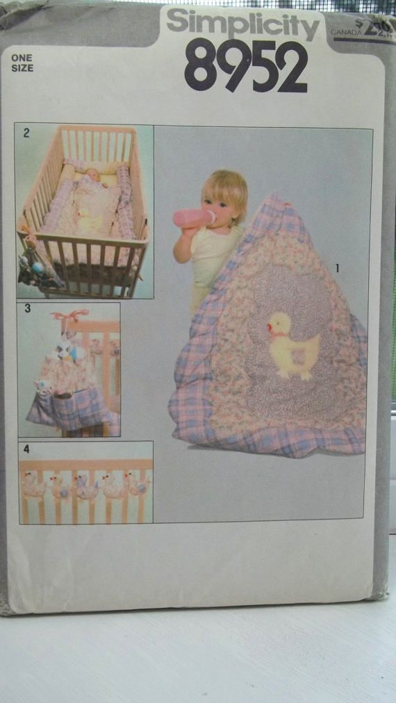 Nursery Bedding and Decor Sewing Pattern, Simplicity 8952, Baby ...