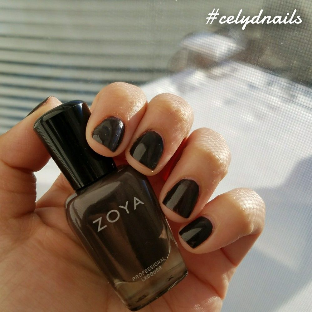 I love vampy nail polish colors during the winter season. Zoya\'s ...