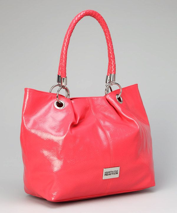Take a look at this Coral Woven-Handle Tote on zulily today!