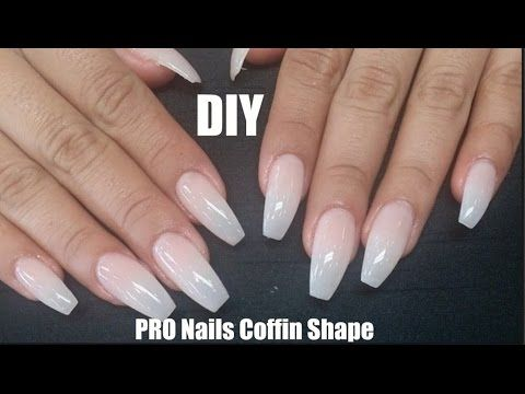 Diy Professional Coffin Nails 9 Long Lasting How To Coffin Shape Nails Youtube Diy Acrylic Nails Coffin Shape Nails Trendy Nails