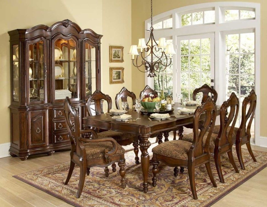 30 Rugs That Showcase Their Power Under The Dining Table Formal Dining Room Table Classic Dining Room Furniture Dining Room Table Set