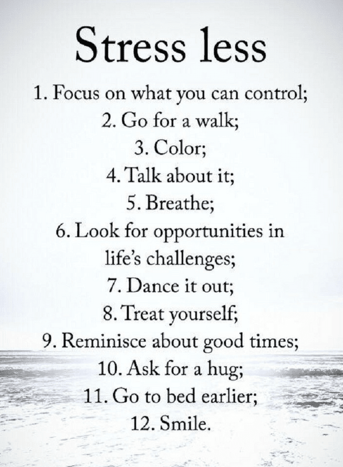 Stressless Quotes: Quotes 12 Steps To Stress Free Life.