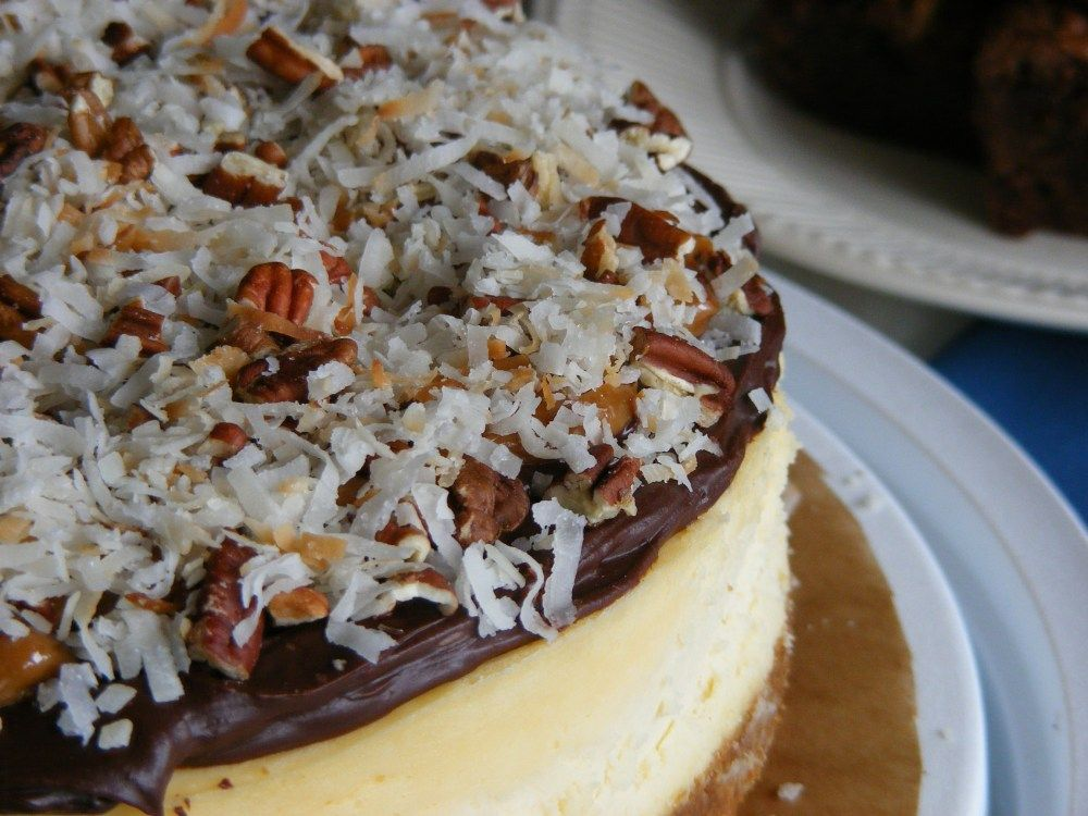 German chocolate cheesecake #germanchocolatecheesecake