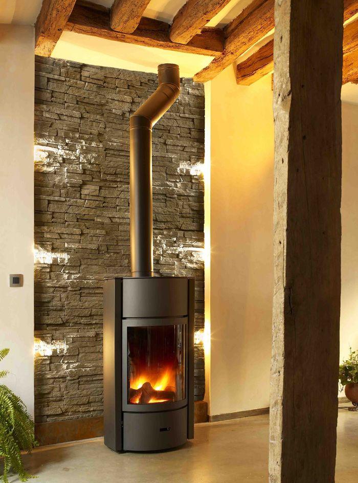 interesting with parement poele. Black Bedroom Furniture Sets. Home Design Ideas