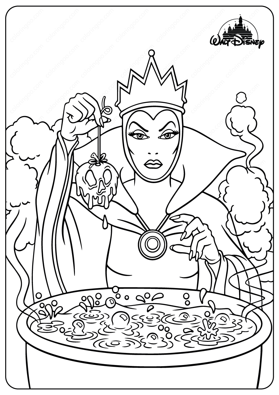 The Evil Queen Coloring Pages Disney Coloring Sheets Disney Coloring Pages Cartoon Coloring Pages