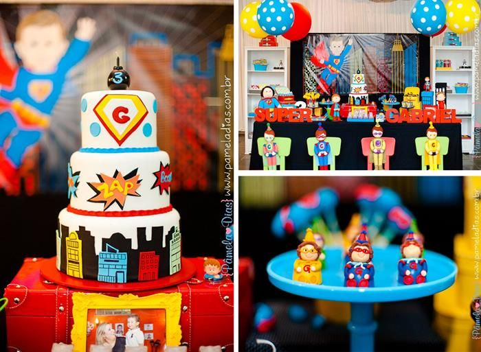 Superhero Themed 3rd Birthday Party Karaspartyideas Com