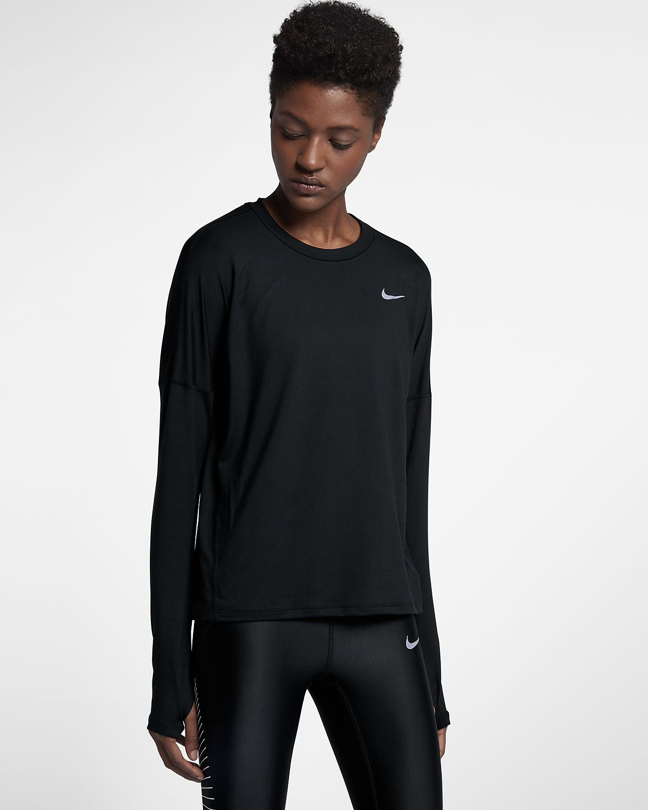 a62a1ef45c4 Nike Dri-FIT Element Women's Long Sleeve Running Top   clothes ...