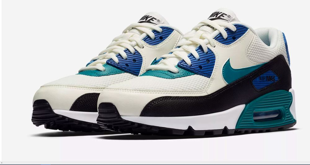 best service e21d6 5703f Nike Air Max 90 Women s 325231-134 White Blue Black  Sizes 5-12 New Running  Shoe  Nike  LowTop