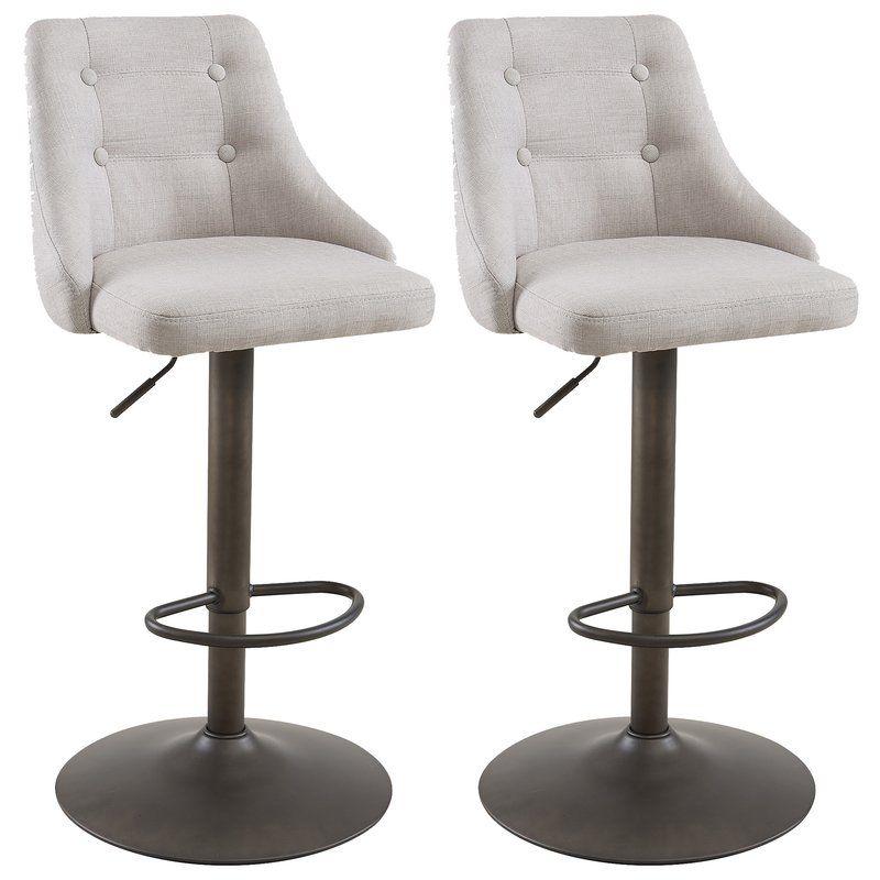 Groovy Judkins Adjustable Height Swivel Bar Stool Carriage Hill Creativecarmelina Interior Chair Design Creativecarmelinacom
