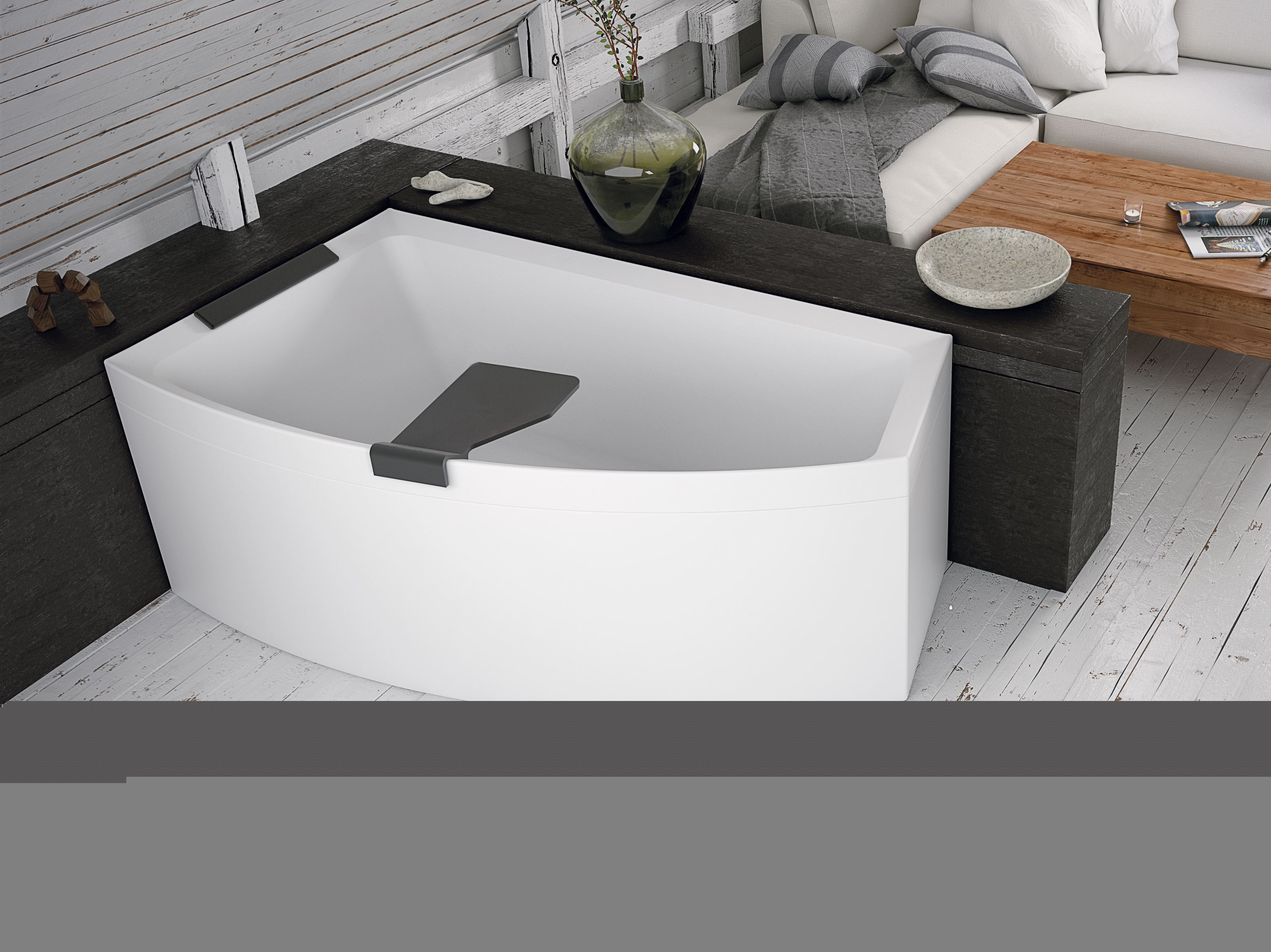 Poser Une Baignoire Avec Rebord la baignoire d'angle divina o de novellini avec les angles
