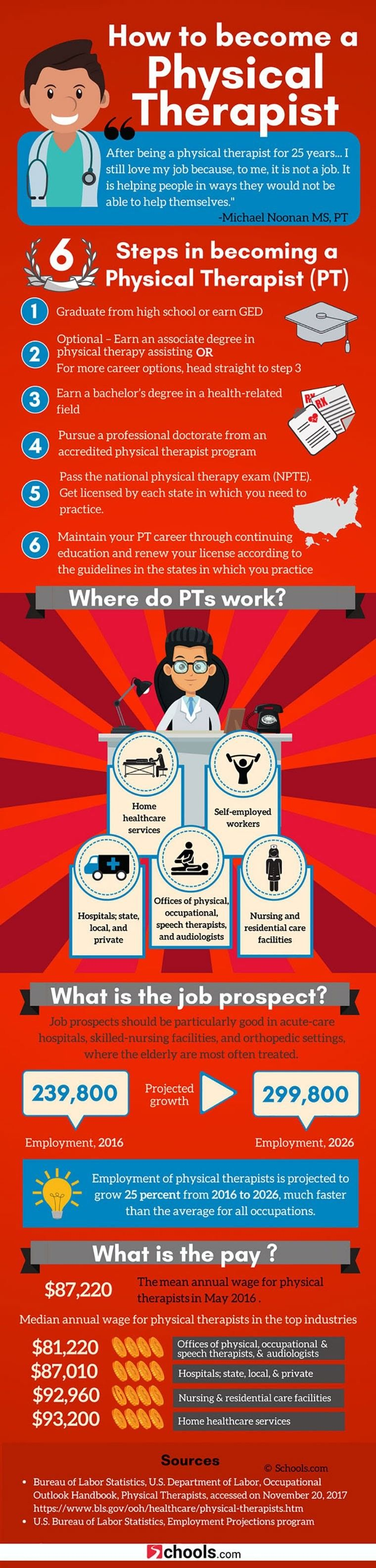 How To Become A Physical Therapist Infographic Physics Educational Infographic Career Advancement