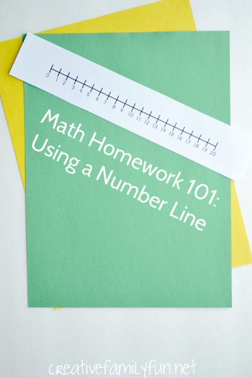 Math Homework 101: How to Use a Number Line | Fun math, Homework and ...