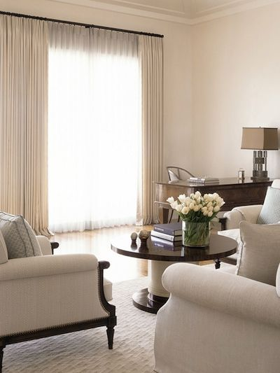beige living room rideau beige