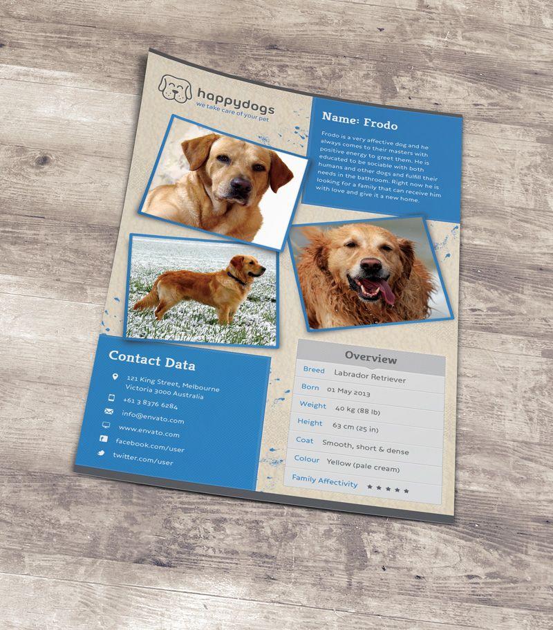 Pet Flyer Gallery - lost pet flyer template free