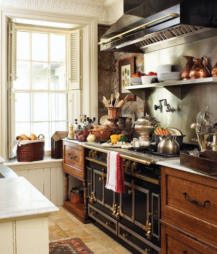 Cuisine Champêtre Moderne: The #rustic Country #kitchen I Never Knew I Wanted.