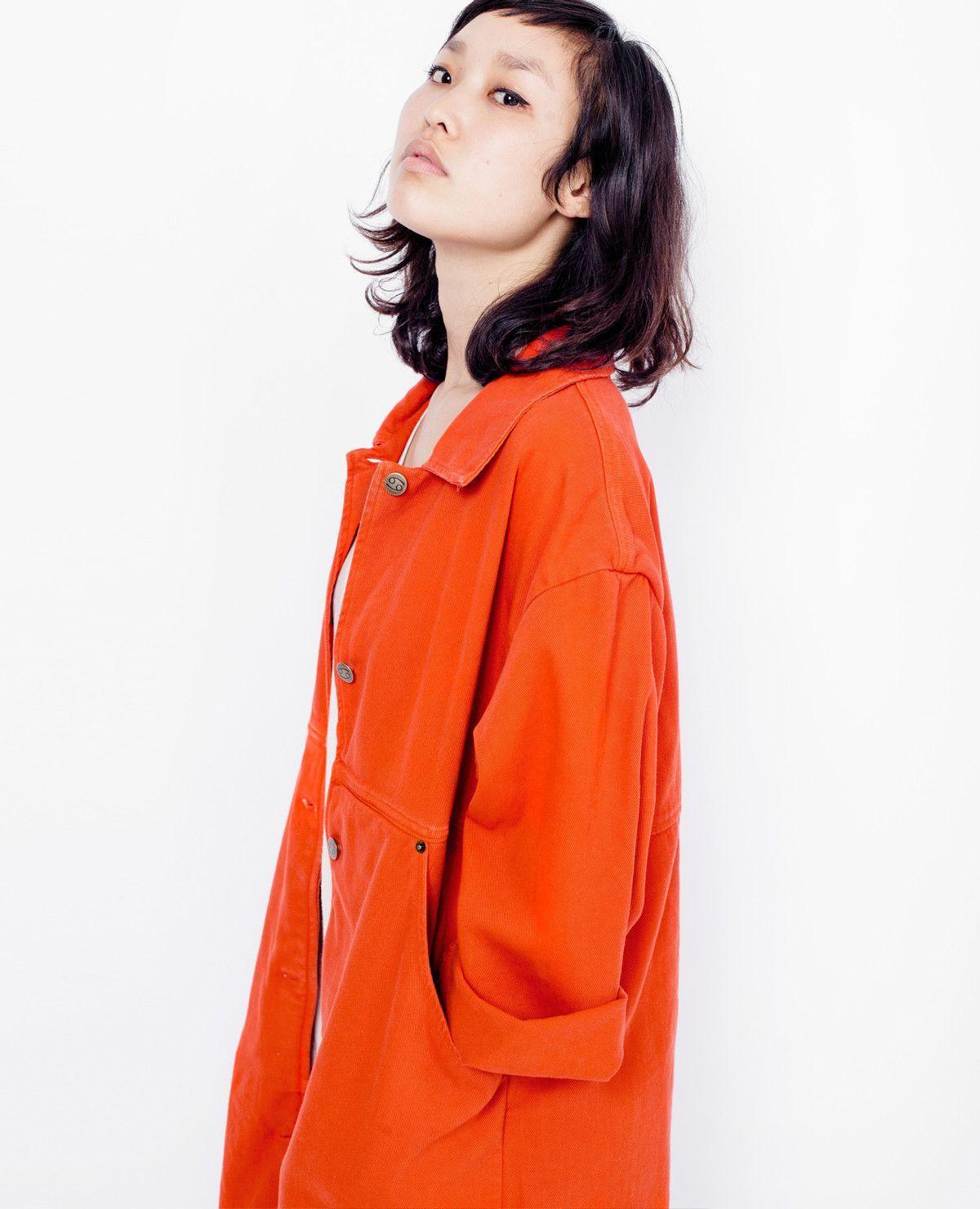 SIXTYNINE Simple Coat / Red Denim