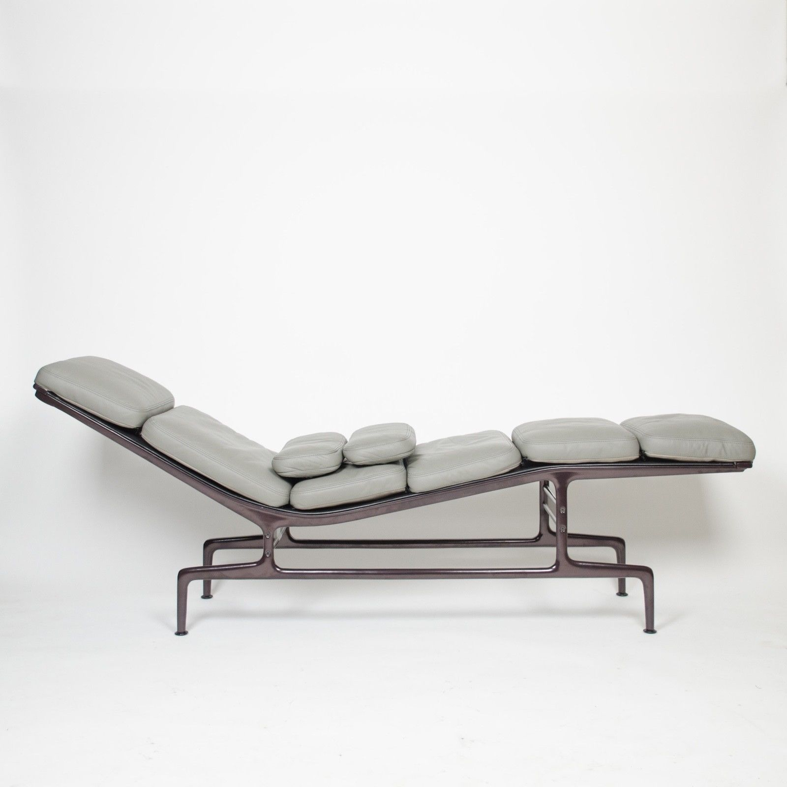 Eames Herman Miller Billy Wilder Gray And Eggplant Chaise Lounge Chair Outdoor Chaise Lounge Chair Chaise Lounge Chair Chair