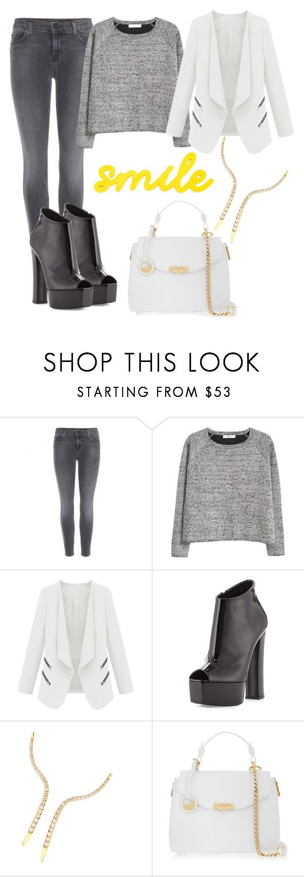 """Senza titolo #465"" by lady-cherries00 ❤ liked on Polyvore featuring J Brand, MANGO, Giuseppe Zanotti, Lana and Versace"