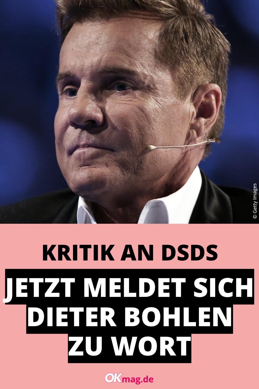 Kritik An Dsds Jetzt Meldet Sich Dieter Bohlen Zu Wort In 2021 Dsds Dieter Bohlen Bohlen