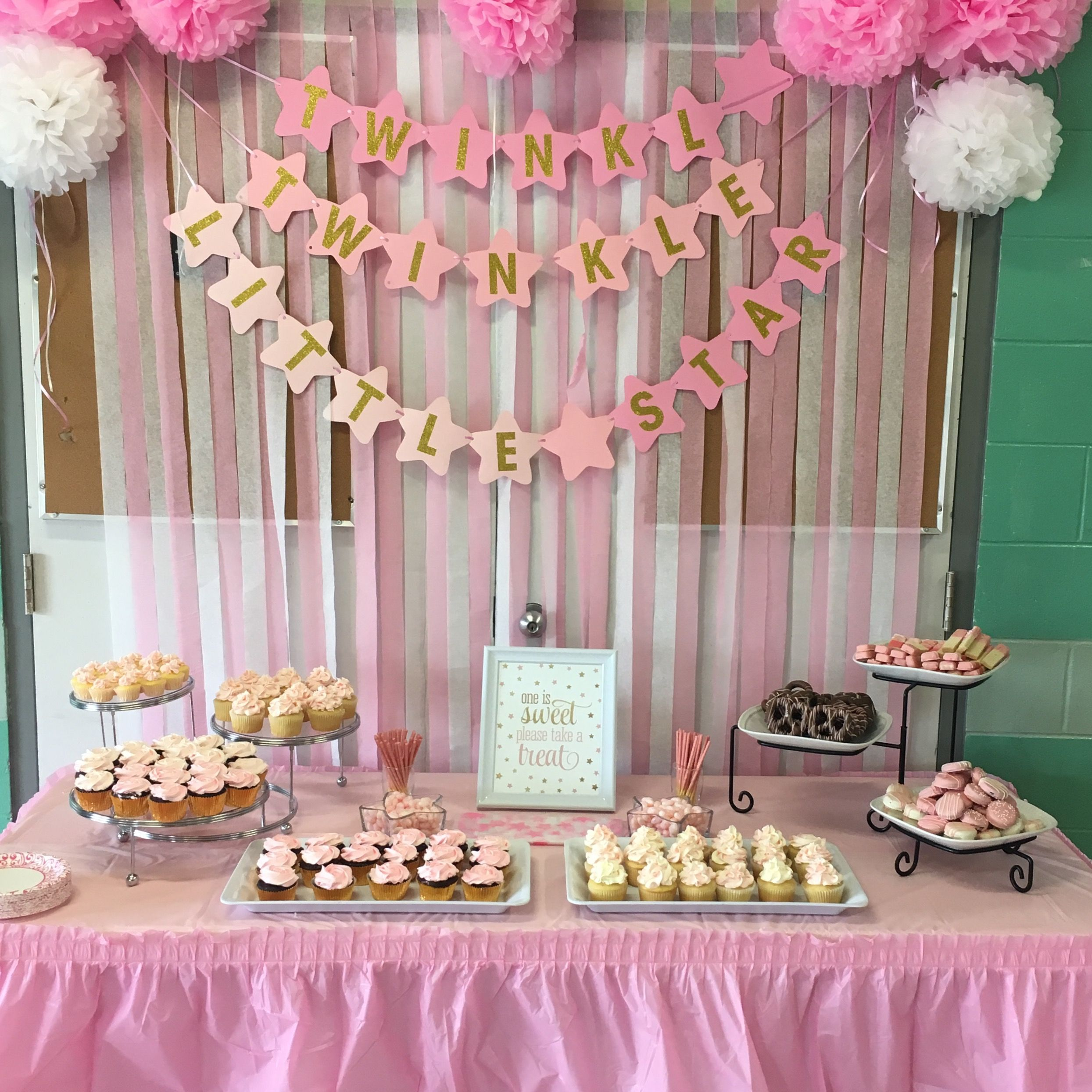 The Centre Of The Party Room A Pink And Gold Themed Sweet Table