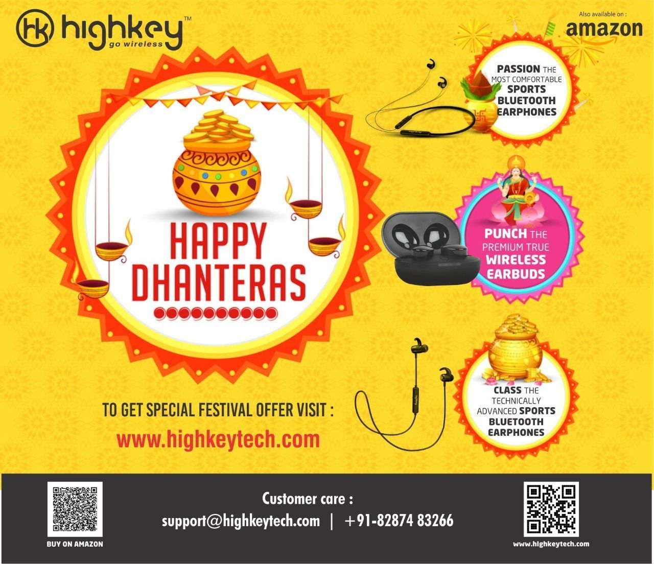 Happy Dhanteras 2019! On this festive day of Dhanteras, May divine blessings of Goddess Laxmi best